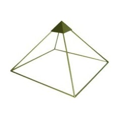 Pirámide Aluminio Pequeña Alt. 30cms