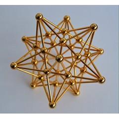 Dodecaedro estrellado dorado